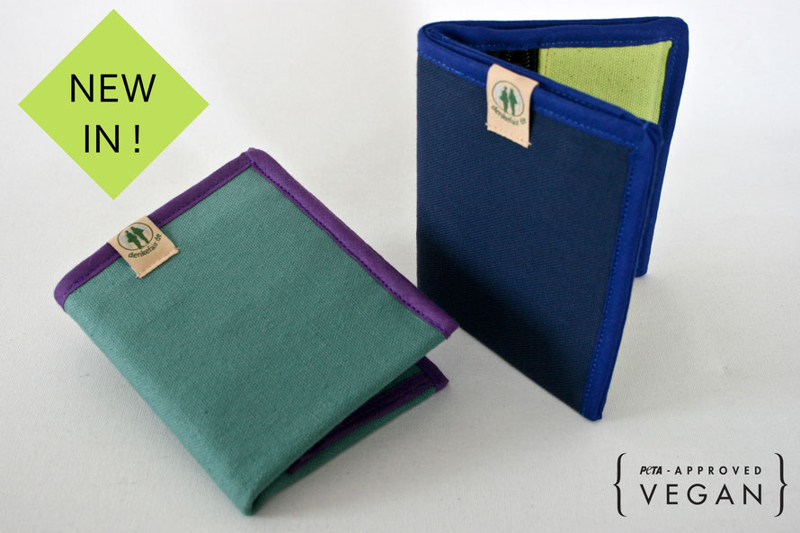 vegan wallet mint blue