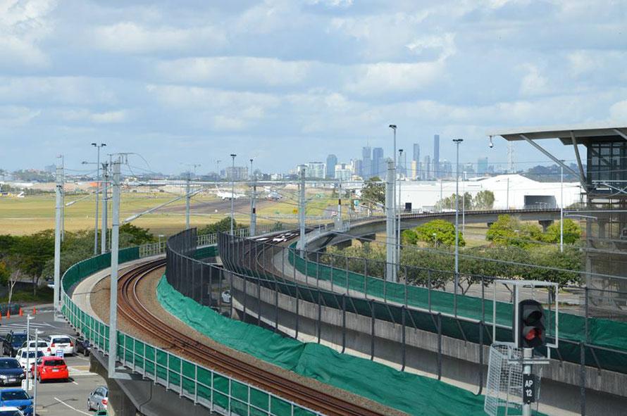 Erster Blick auf die Skyline von Brisbane - eine 2 Millionen-Einwohnerstadt. Mal schauen wie ich mich da zurechtfinde.