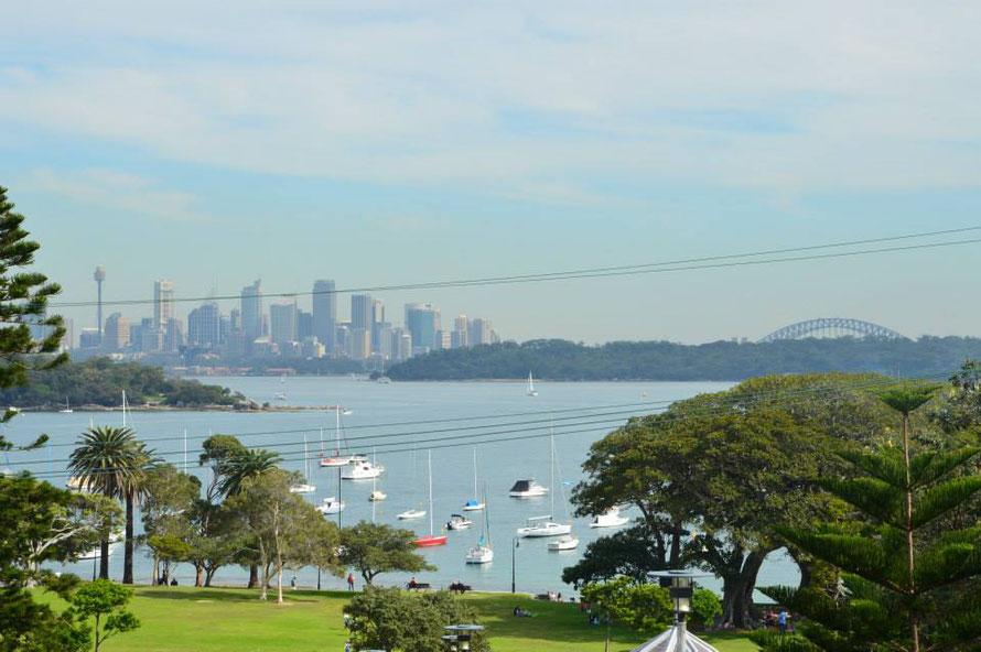 Aussicht auf Sydney von Dover Heigts aus.