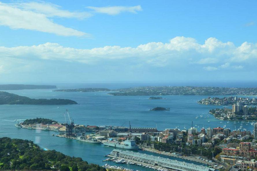 Hafenbecken Richtung Manly und Watson Bay