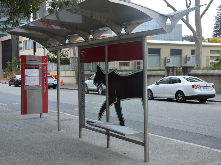 Meine Busstation der red CAT direkt vor meinem Hotel