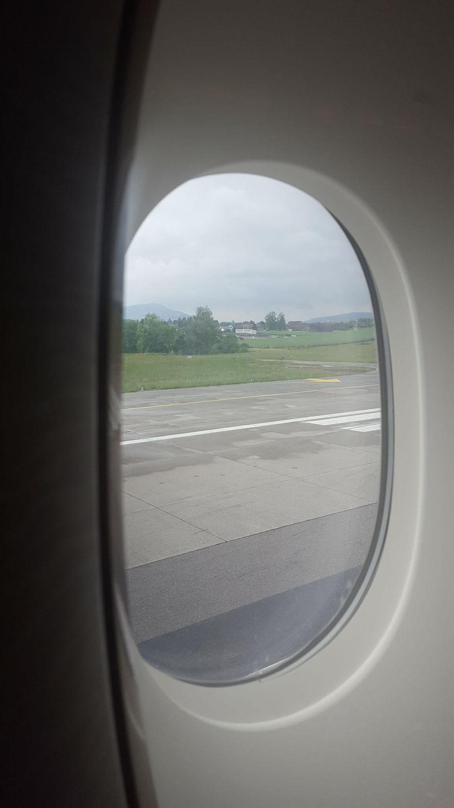 Letztes Mal Sicht auf Schweizer Boden