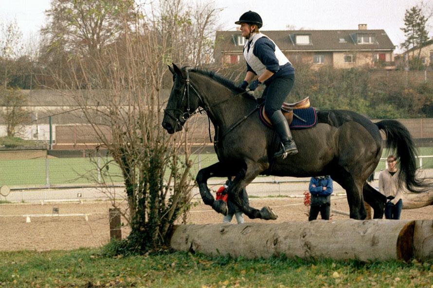 Guinness und ich am Silbertest 2003 auf dem Schänzli, Basel - wir haben bestanden