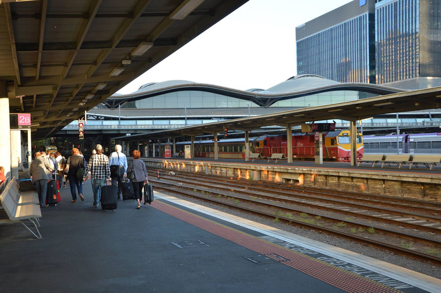 Der Bahnhof Southern Cross in Melbourne