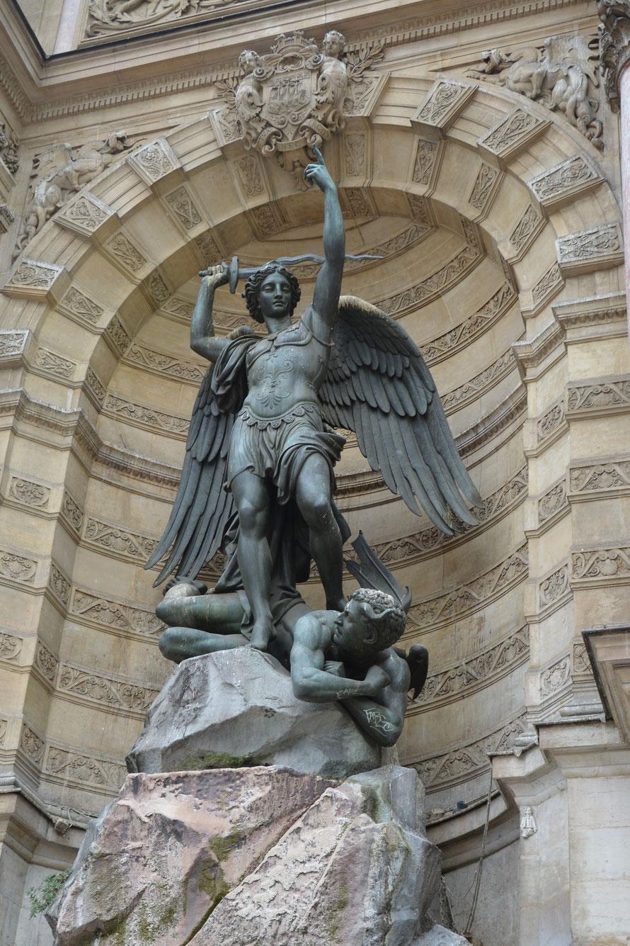 Brunnenskulptur vom Fontain St. Michel