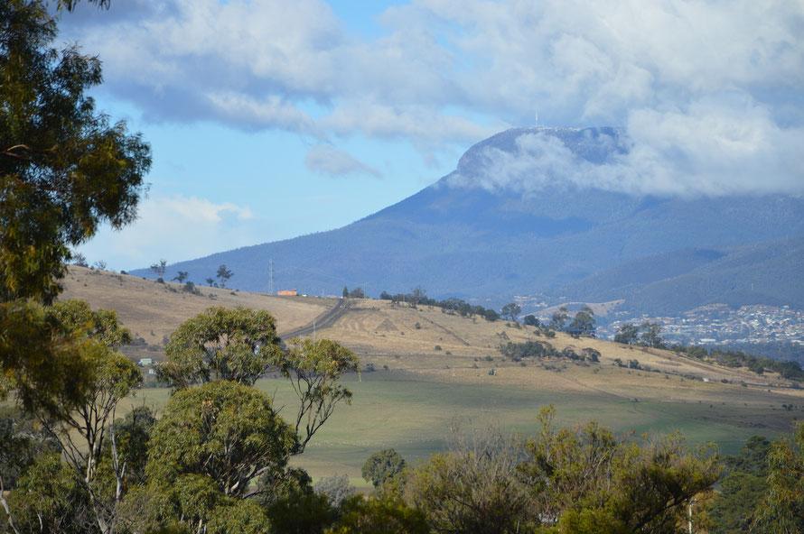 Blick von der Sanctuary zu meinem nächsten Ziel: der Mount Wellington