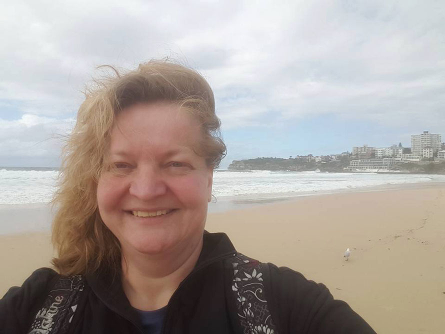 Windig wars am Bondi Beach: first Selfie