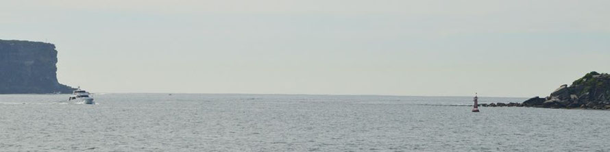 Der Durchgang zum offenen Meer.
