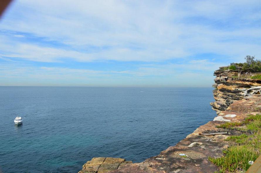 Watson Bay: Aussicht aufs Meer Richtung Süden.