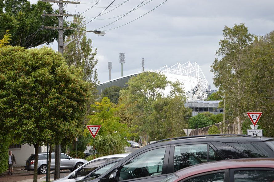 close to my accomodation - the Sydney football stadium