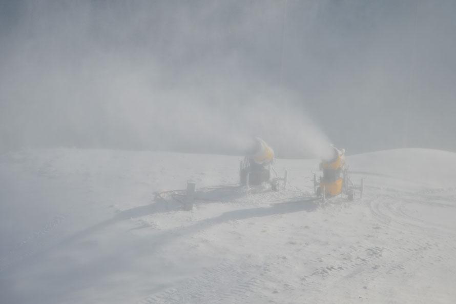 Habe zum ersten Mal life Schneekanonen im Einsatz gesehen.