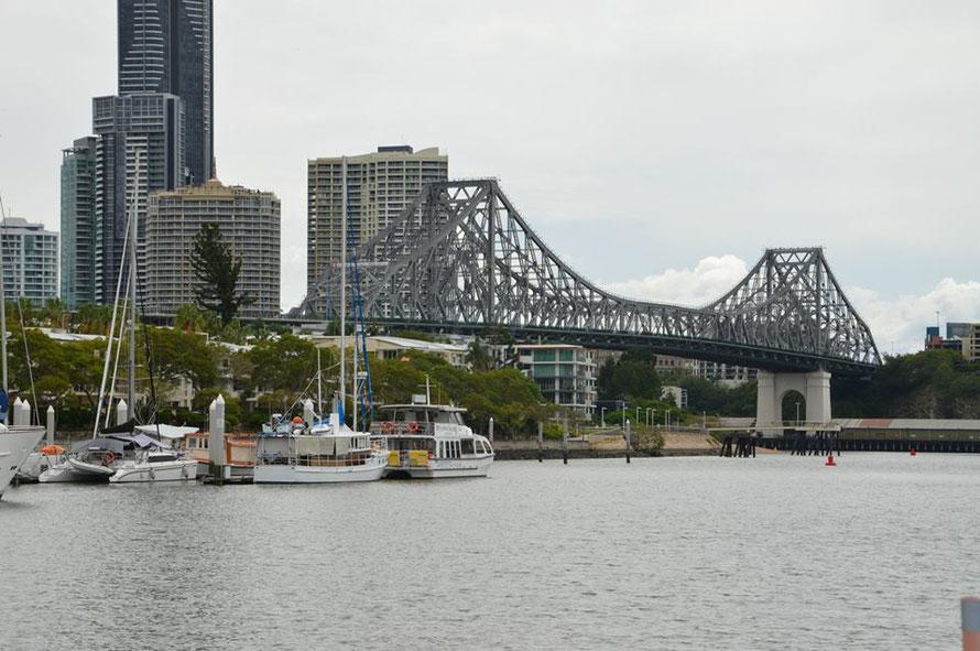 Die Story Bridge: vom selben Konstrukteur entworfen wie die Harbour Bridge in Sydney