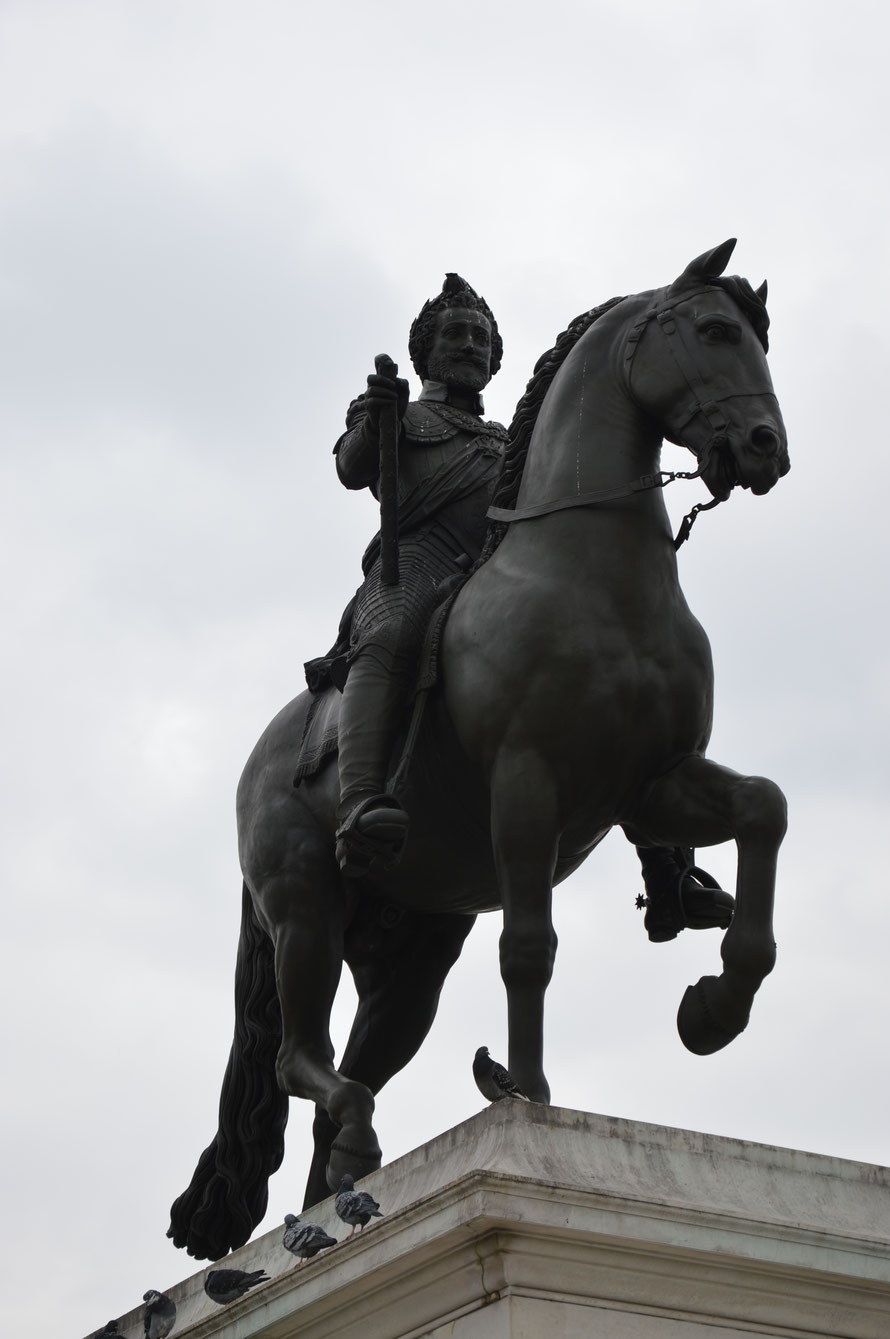 Statue Heinrich des IV auf der Pont Neuf