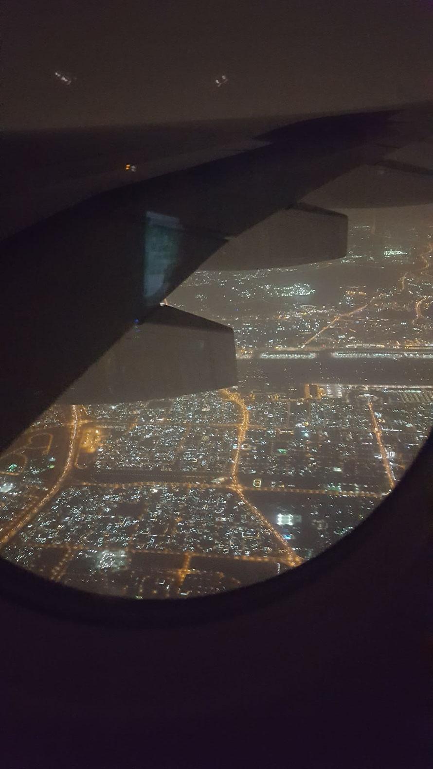 Dubai im Anflug