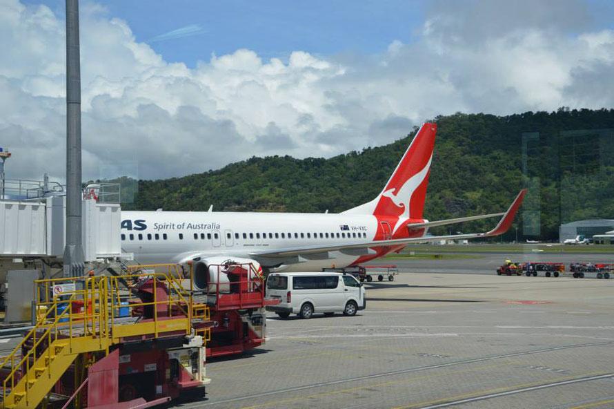 Ankunft in Cairns: Wettter: tropisch