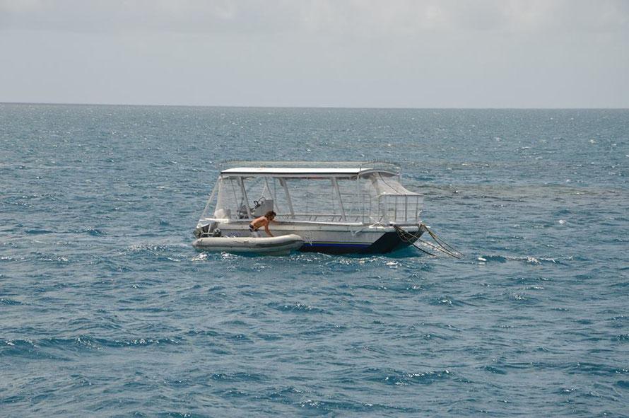 Das wäre dann also unser Glasbodenboot