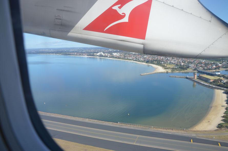Und dann gehts los, raus auf die Botany Bay und weg von Sydney Richtung Canberra.