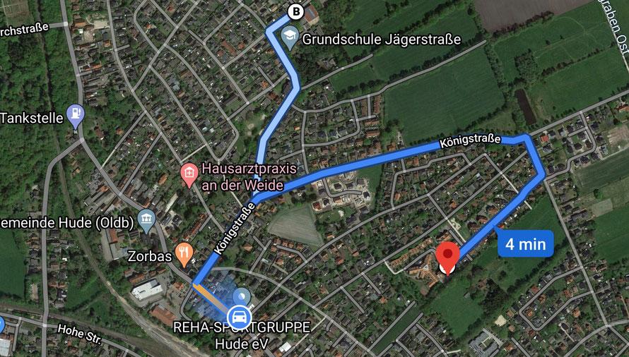 Vereinsheim Parkstraße 20, Wohnpark am Sonnentau und Grundschule Jägerstrasse