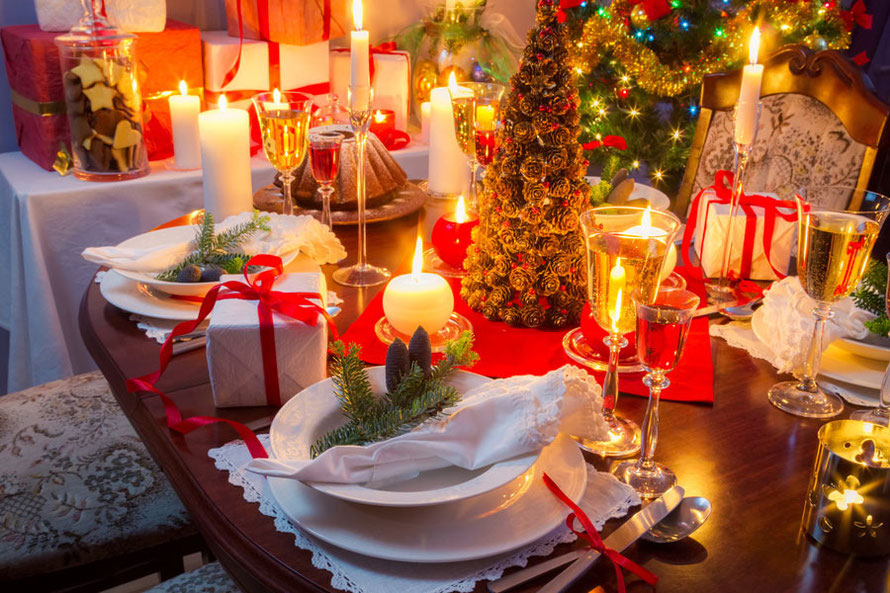 decoraciones para cenas de navidad