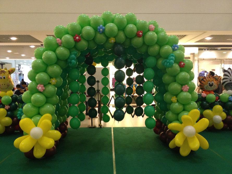 túnel de globos infantil