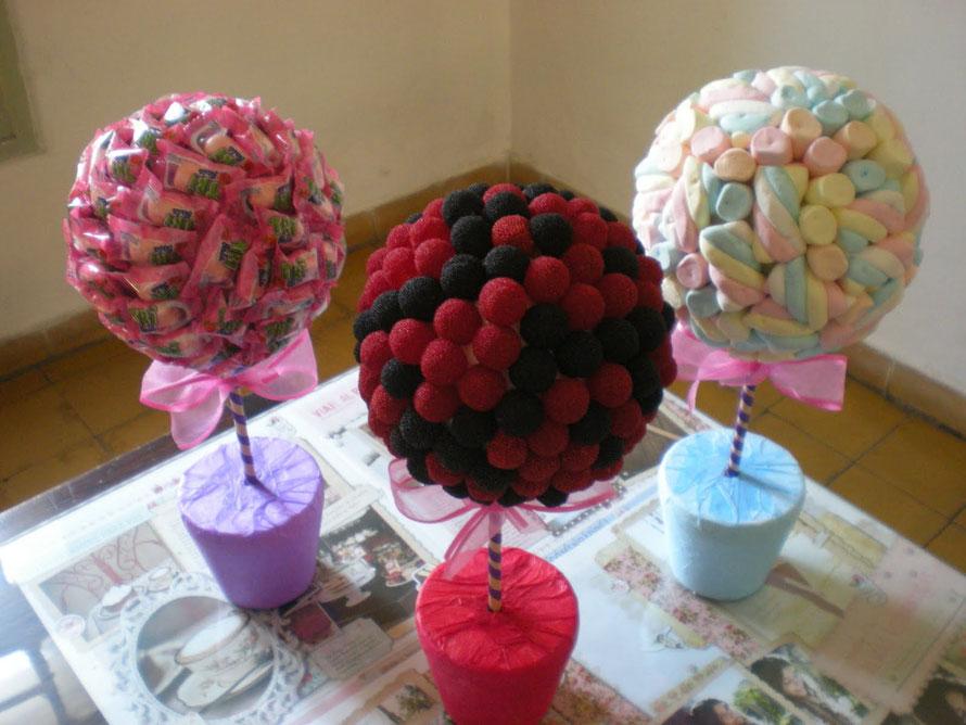 topiarios de dulces