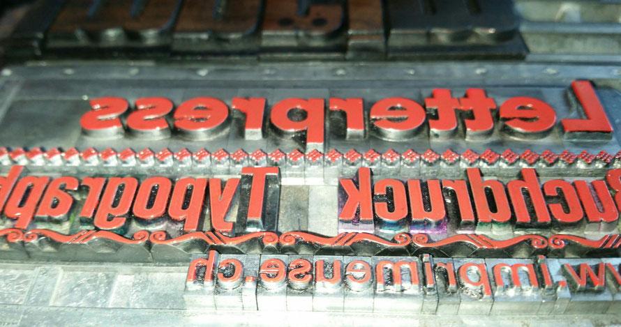 l'imprimeuse Letterpress Typographie Invitation
