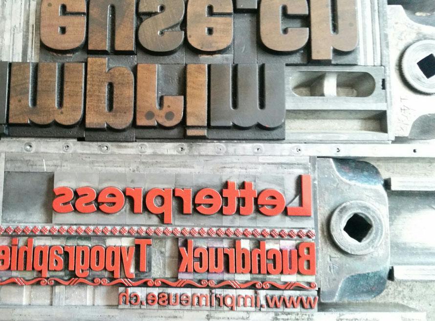 l'imprimeuse Letterpress printstudio