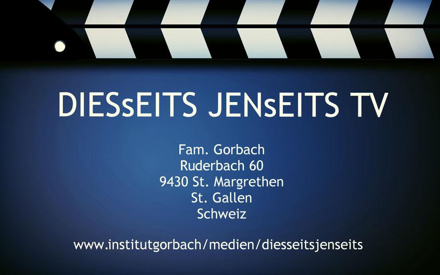 KONTAKT | DIESsEITS JENsEITS TV | CLAUDIA GORBACH | SCHWEIZ | ÖSTERREICH | DEUTSCHLAND