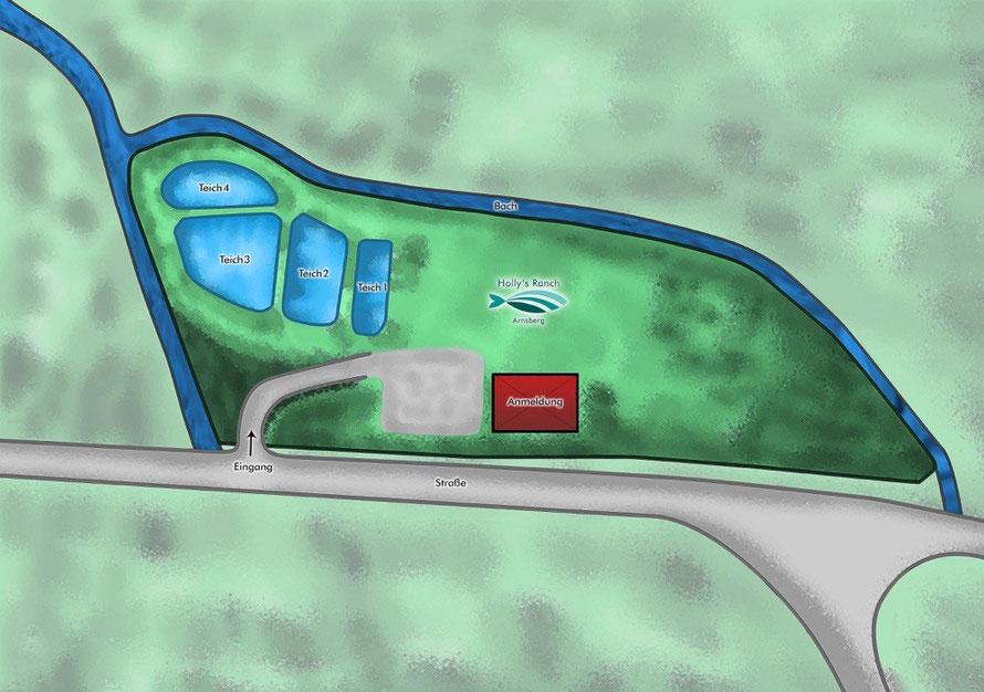 Übersicht Holly's Ranch: Die Teiche