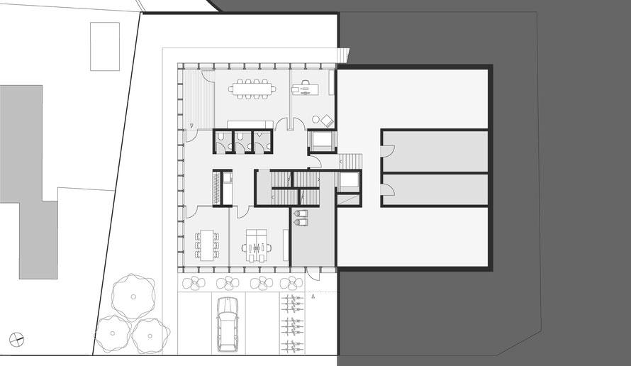 Tiefparterre und 1. Untergeschoss