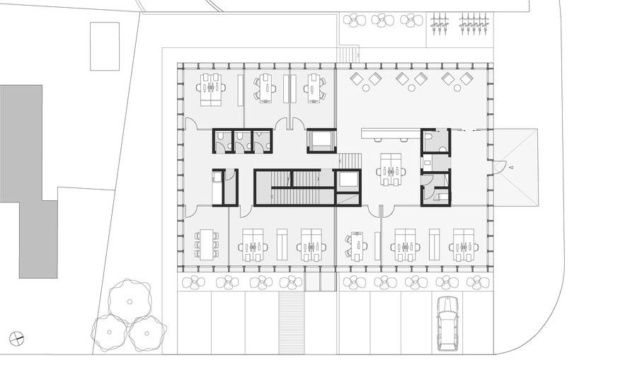 Erdgeschoss und Hochparterre