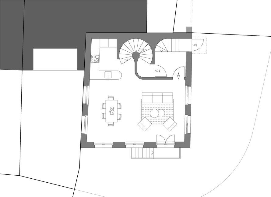 Hochparterre - Wohnung 1