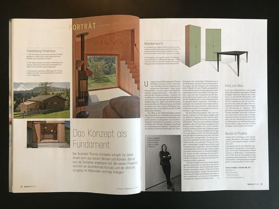 Umbauen+Renovieren - Ausgabe Mai/Juni 2018
