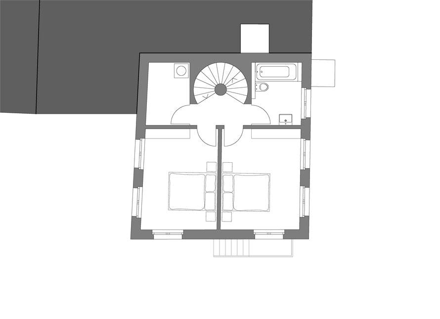 Obergeschoss - Wohnung 2