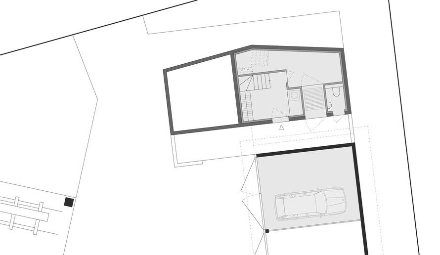 2. Ebene - Eingang, Sagi-WC, Technik