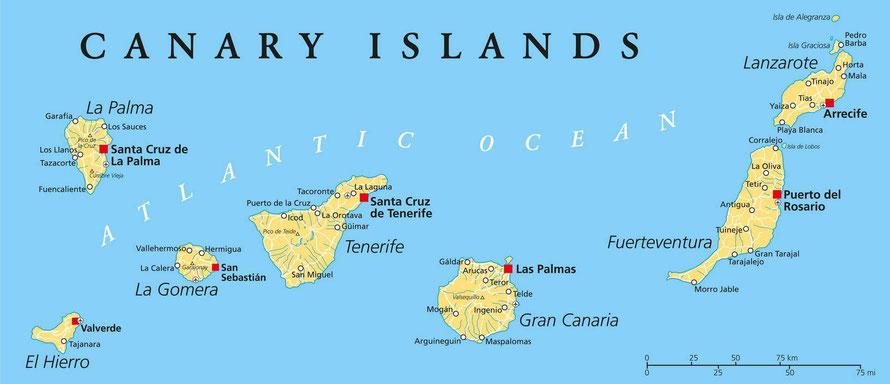 Een zeiljacht huren op de Canarische Eilanden vanaf Tenerife, Gran Canaria en Lanzerote