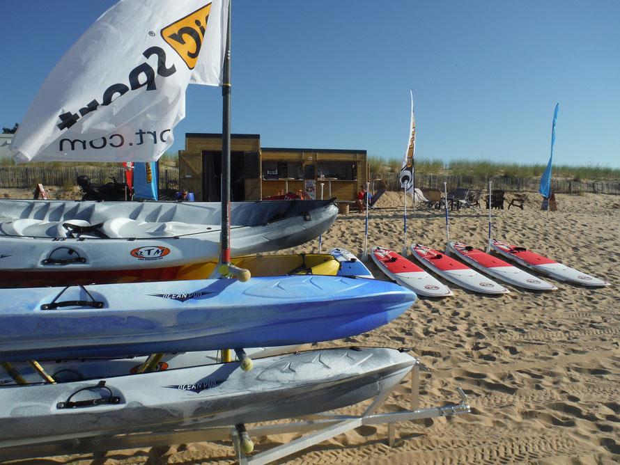 WaterFun : location de Kayaks pour une balade en mer - Plage Porte des Îles - La Tranche-Sur-Mer - Vendée - balade en famille ou entre amis