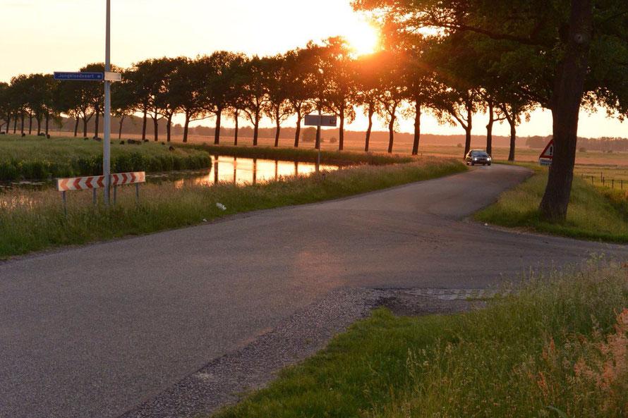 Nach einem schönen Tag und erfolgreicher Räubertour, jetzt noch so ein toller Sonnenuntergang am holländischen Polder.