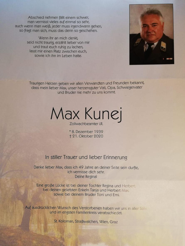Max KUNEJ