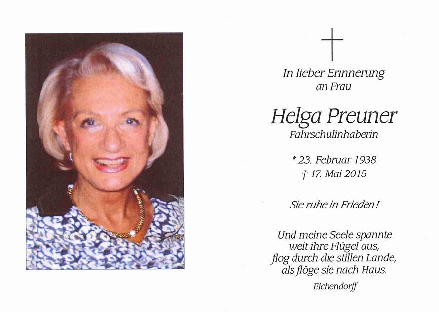 Helga Preuner