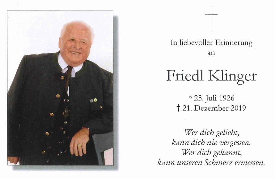 Friedrich (Friedl) KLINGER