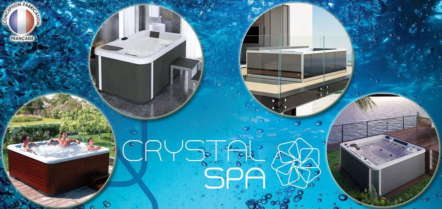 achat et test spa coque rigide 100% français extérieur avec chauffage avec massage pour balcon terrasse crystal spa magasin alba alès près de Uzès