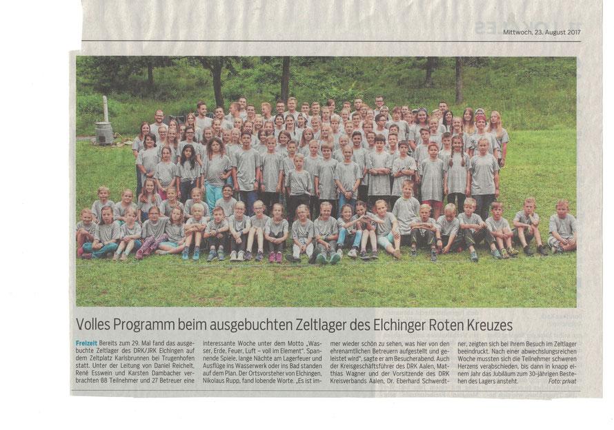 Schwäbische Post vom 23.08.2017