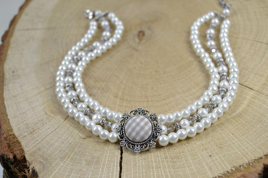 """Kropfkette """"Karokropferl"""" - Perlenkropfkette, Perlenkropfband"""