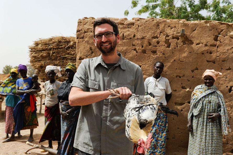 Gastgeschenk in Kaya / Burkina Faso