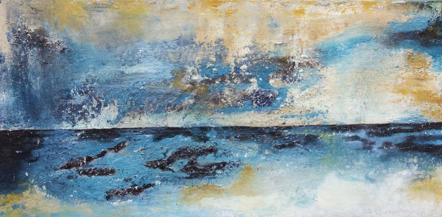 """""""Horizont"""", Acryl auf Leinwand, 50x100 cm"""