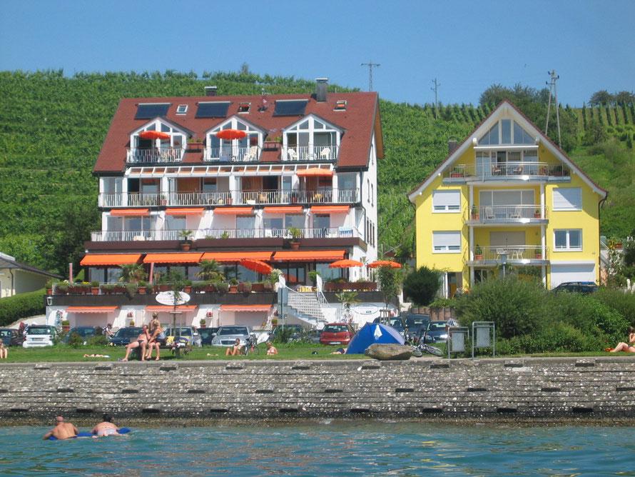 """""""Bild:Ferienwohnungen in Meersburg am Bodensee mit Seesicht."""""""