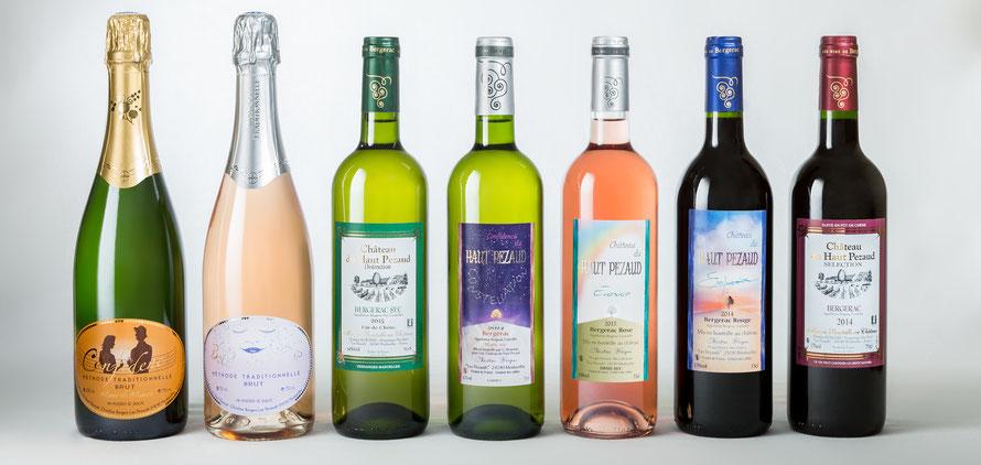 bergerac, vin, château, Haut Pezaud, méthode traditionnelle