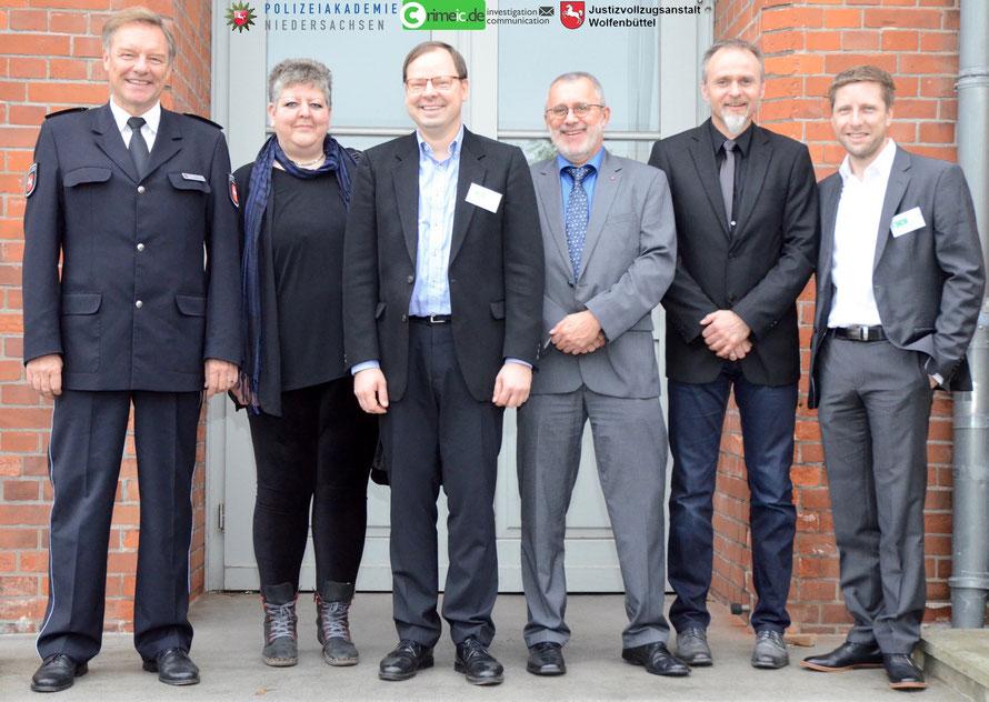 Die Kooperationspartner von crimeic - Dieter Buskohl, Daniela Klimke, Peter Lutz Kalmbach, Dieter Münzebrock, Horst Peltzer & Tim Krenzel