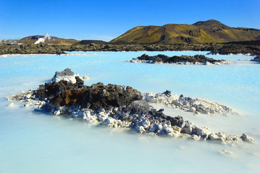 Eau siliceuse du Blue Lagoon